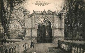 AK / Ansichtskarte Gennes Maine et Loire Le Portique et la Grille d'entree du Chateau de Milly Kat. Gennes