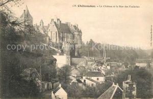 AK / Ansichtskarte Chateaudun Le Chateau et la Rue des Fouleries Kat. Chateaudun