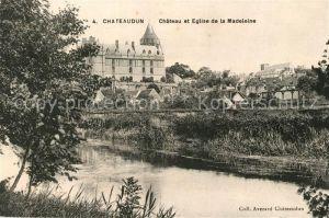 AK / Ansichtskarte Chateaudun Chateau et Eglise de la Madeleine Kat. Chateaudun