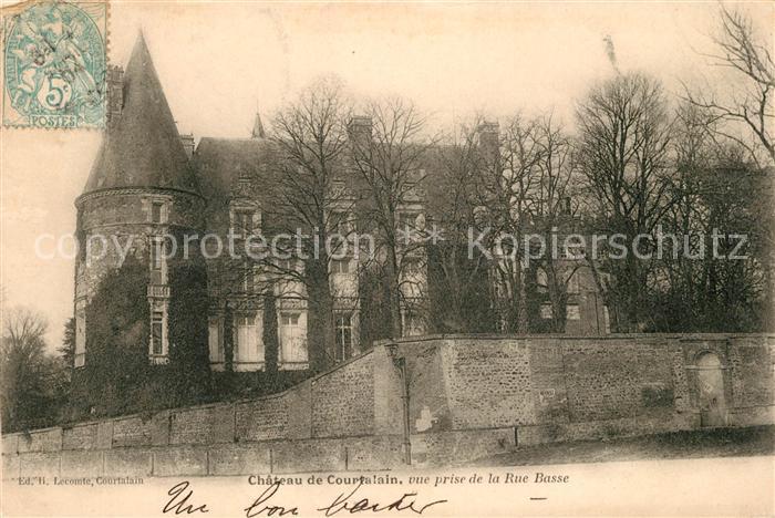AK / Ansichtskarte Courtalain Chateau de Courtalain vue prise de la Rue Basse Kat. Courtalain