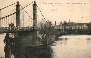 AK / Ansichtskarte Les Rosiers sur Loire Le Pont suspendu sur la Loire vers St Eusebe Kat. Les Rosiers sur Loire