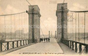 AK / Ansichtskarte Montjean sur Loire Le Pont et vue generale Kat. Montjean sur Loire