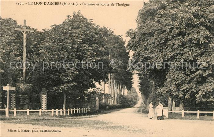 AK / Ansichtskarte Le Lion d Angers Calvaire et Route de Thorigne Kat. Le Lion d Angers