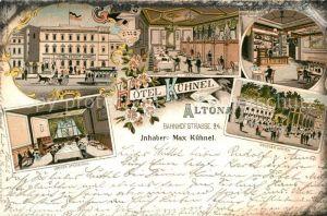 AK / Ansichtskarte Altona Hamburg Hotel Kuehnel  Kat. Hamburg