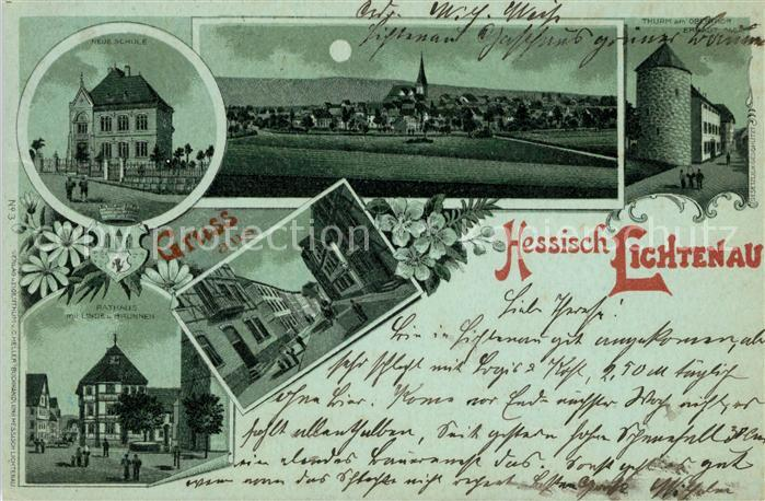 AK / Ansichtskarte Hessisch Lichtenau Schue Panorama Rathaus Kat. Hessisch Lichtenau