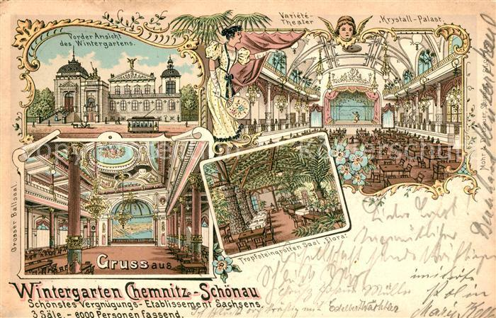 Ak ansichtskarte chemnitz feldschloesschen ballhaus - Wintergarten chemnitz ...
