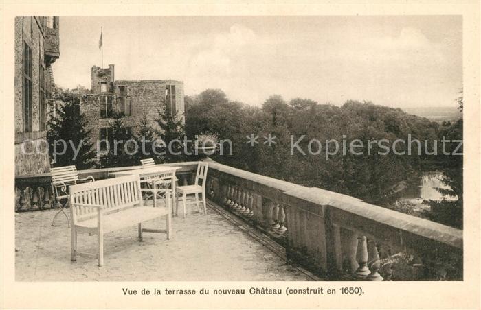 AK / Ansichtskarte Beaufort Herault Vue de la terrasse du nouveau Chateau construit en 1650 Kat. Beaufort