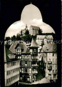 AK / Ansichtskarte Marburg Lahn Markt mit Landgrafenschloss Kat. Marburg