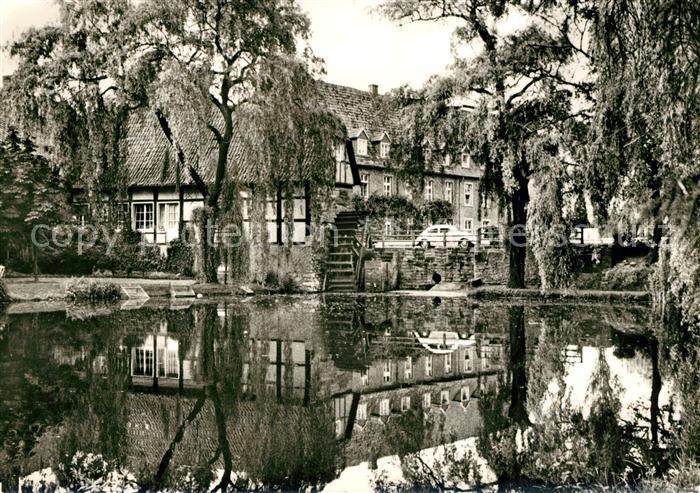 AK / Ansichtskarte Milte Kloster Vinnenberg Muehle Priesterhaus Teich Wasserspiegelung Kat. Warendorf