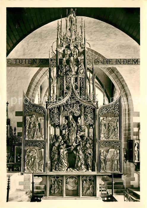 AK / Ansichtskarte Creglingen Marienaltar von Tilman Riemenschneider Herrgottskirche Kat. Creglingen