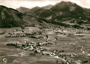 AK / Ansichtskarte Hundham Miesbach Leitzachtal Alpen Fliegeraufnahme Kat. Fischbachau