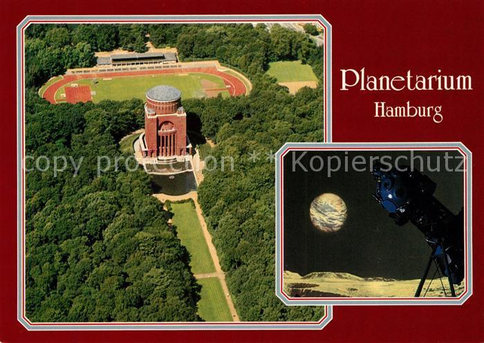 AK / Ansichtskarte Planetarium Hamburg Stadtpark Jahnkampfbahn Fliegeraufnahme  Kat. Gebaeude