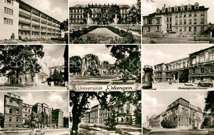 AK / Ansichtskarte Erlangen Universitaetskliniken Schloss Orangerie Bibliothek Kat. Erlangen