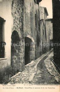 AK / Ansichtskarte Saint Paul Cote d Azur Grand Rue Rue Casse Cou