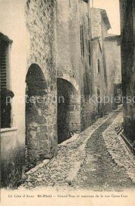 AK / Ansichtskarte Saint Paul Cote d Azur Rue Casse Cou