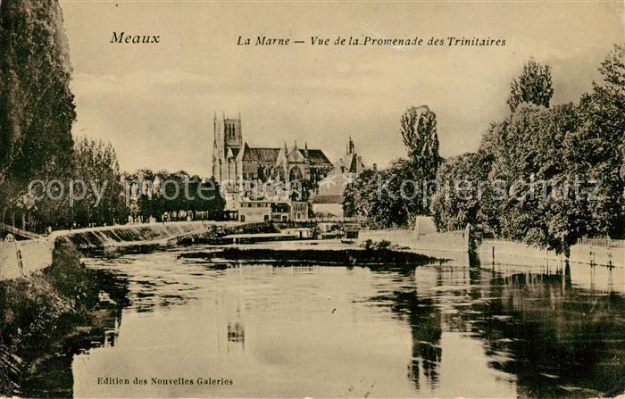 AK / Ansichtskarte Meaux Seine et Marne Vue de la Promenade des Trinitaires Kat. Meaux
