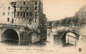 AK / Ansichtskarte Meaux Seine et Marne Pont du Moulin Guerre Kat. Meaux