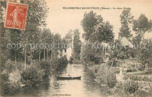 AK / Ansichtskarte Villeneuve l Archeveque Vieux Moulin Kat. Villeneuve l Archeveque