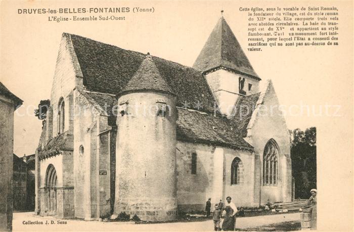 AK / Ansichtskarte Druyes les Belles Fontaines Eglise Kat. Druyes les Belles Fontaines