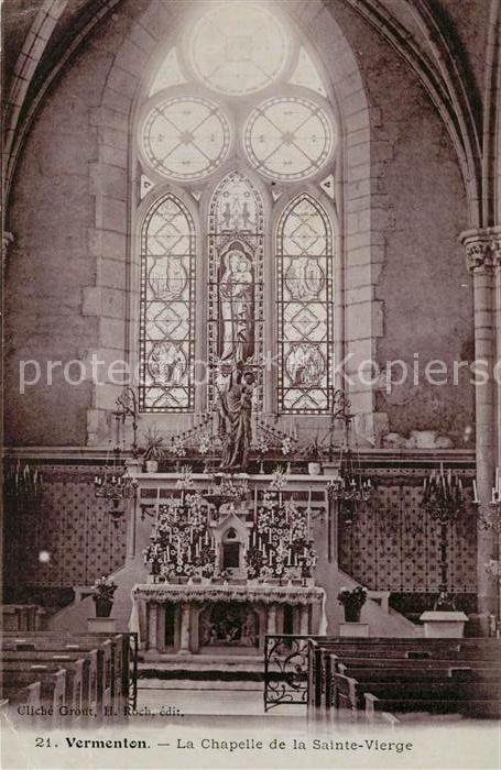 AK / Ansichtskarte Vermenton Chapelle de la Sainte Vierge interieur Kat. Vermenton