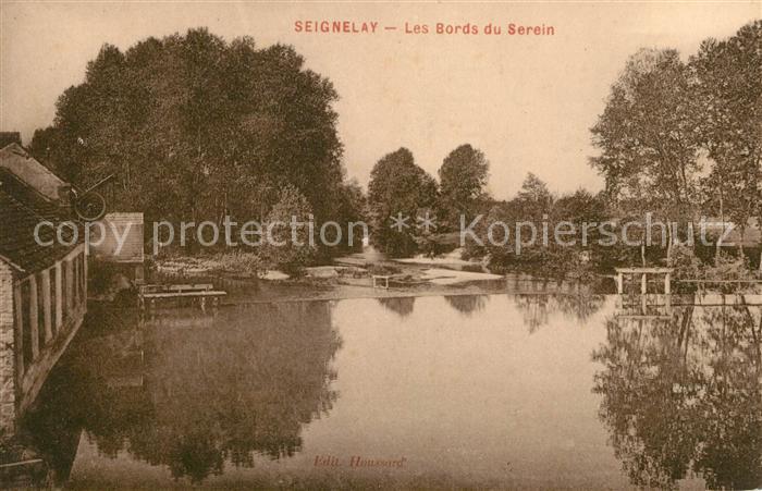 AK / Ansichtskarte Seignelay Les Bords du Serein Kat. Seignelay