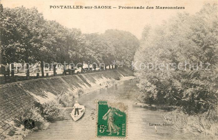 AK / Ansichtskarte Pontailler sur Saone Promenade des Marronniers Kat. Pontailler sur Saone