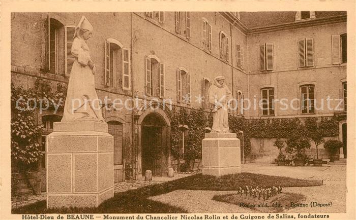 AK / Ansichtskarte Beaune Cote d Or Burgund Hotel Dieu Monument du Chancelier Nicolas Rolin Kat. Beaune