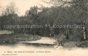 AK / Ansichtskarte Semur en Auxois Au bords de l`Armancon Le Porron Carolin Kat. Semur en Auxois