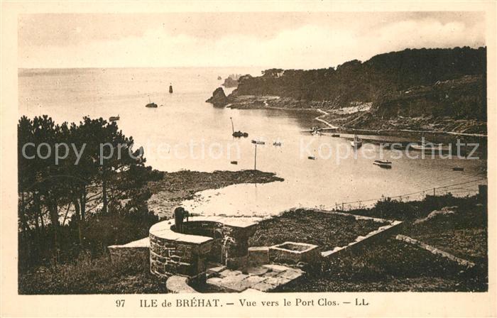 AK / Ansichtskarte Ile de Brehat Vue vers le Port Clos Kat. Ile de Brehat
