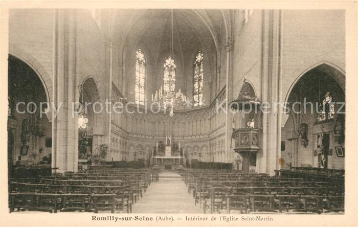 AK / Ansichtskarte Romilly sur Seine Interieur de l'Eglise Saint Martin Kat. Romilly sur Seine