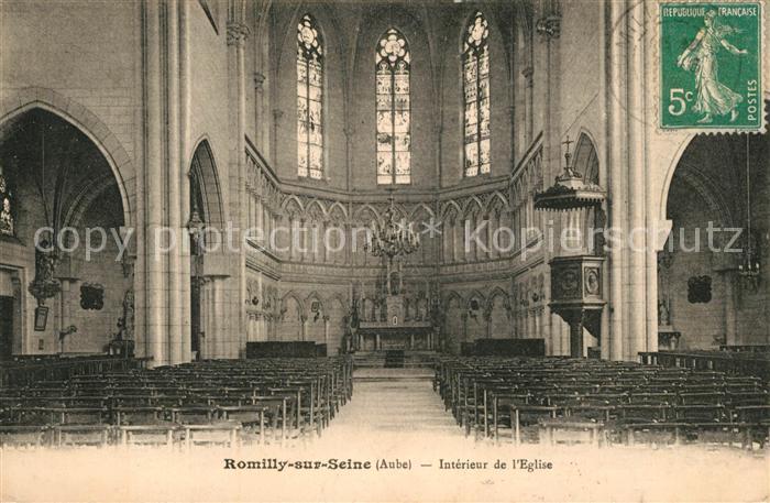 AK / Ansichtskarte Romilly sur Seine Interieur de l Eglise Kat. Romilly sur Seine