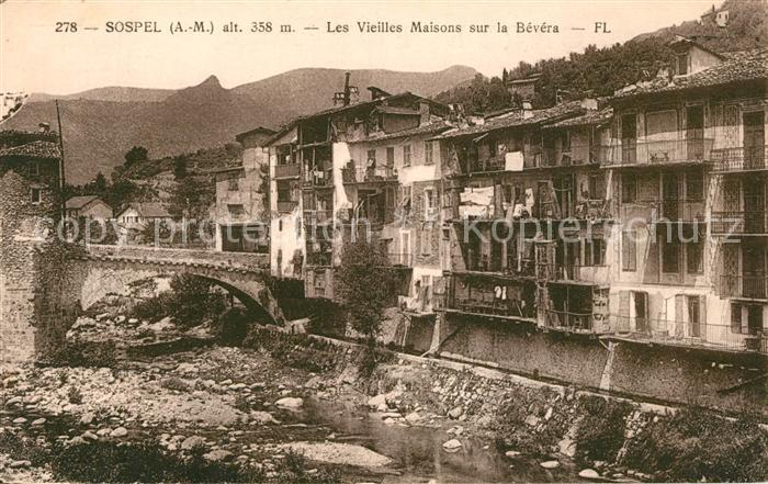 AK / Ansichtskarte Sospel Les Vieilles Maisons sur la Bevera Kat. Sospel