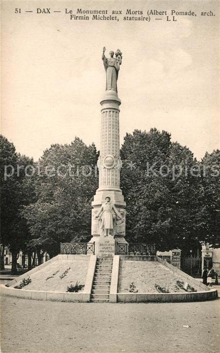 AK / Ansichtskarte Dax Landes Le Monument aux Morts Kat. Dax