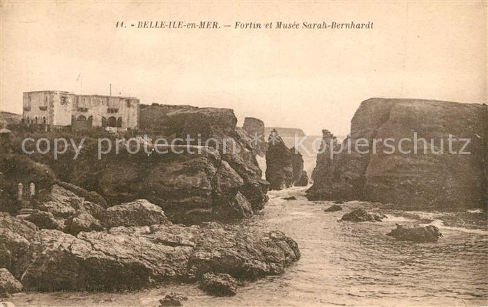 AK / Ansichtskarte Belle Ile en Mer Fortin et Musee Sarah Bernhardt