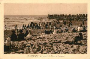 AK / Ansichtskarte Capbreton sur Mer Un coin de la Plage et la Jetee Kat. Capbreton