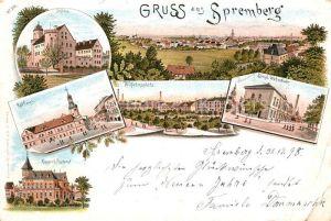 AK / Ansichtskarte Spremberg Niederlausitz Schloss Rathaus Postamt  Kat. Spremberg