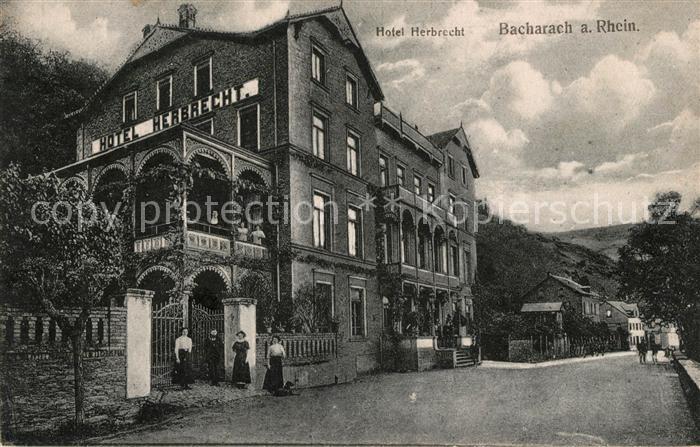 AK / Ansichtskarte Bacharach Rhein Hotel Herbrecht Kat. Bacharach