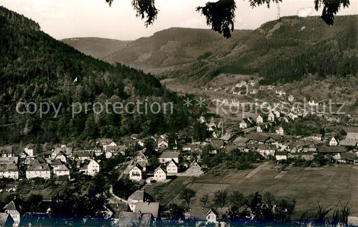 AK / Ansichtskarte Calmbach Enz Panorama Blick vom Hengstberg Luftkurort Schwarzwald Kat. Bad Wildbad