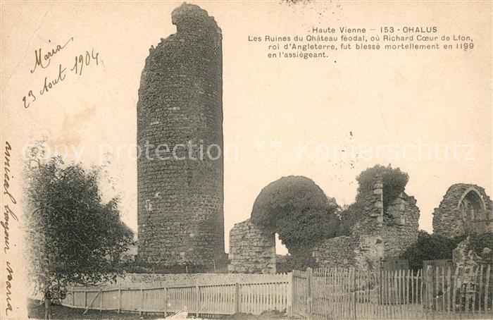 AK / Ansichtskarte Chalus Haute Vienne Ruines du Chateau feodal Kat. Chalus