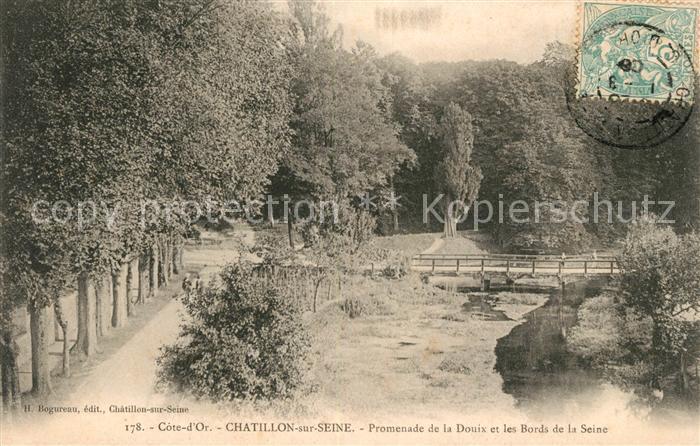 AK / Ansichtskarte Chatillon sur Seine Promenade de la Douix et les Bords de la Seine Kat. Chatillon sur Seine