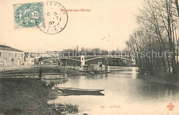AK / Ansichtskarte Nogent sur Marne Le Pont Kat. Nogent sur Marne