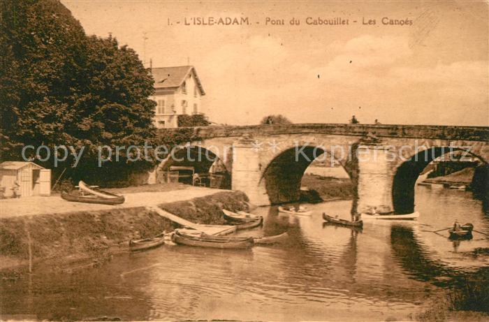 AK / Ansichtskarte L Isle Adam Pont du Cabouillet Les Canoes Kat. L Isle Adam