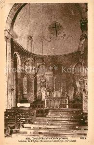 AK / Ansichtskarte Toulx Sainte Croix Interieur de l'Eglise  Kat. Toulx Sainte Croix