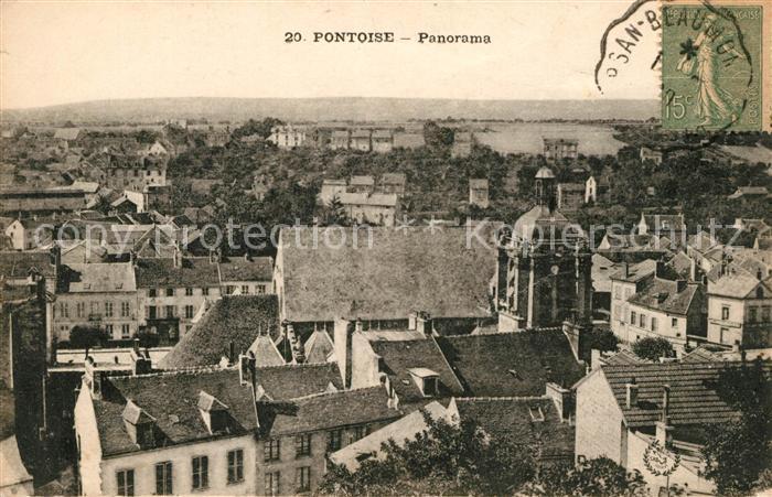 AK / Ansichtskarte Pontoise  Val d Oise Panorama Kat. Pontoise