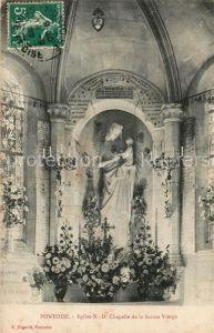 AK / Ansichtskarte Pontoise  Val d Oise Eglise Notre Dame Chapelle de la Sainte Vierge Kat. Pontoise