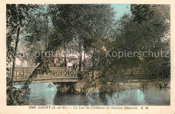 AK / Ansichtskarte Gagny Le Lac du Chateau de Maison Blanche Kat. Gagny