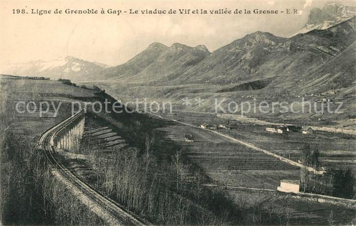 AK / Ansichtskarte Gresse en Vercors Ligne de Grenoble a Gap viaduc de Vif Kat. Gresse en Vercors