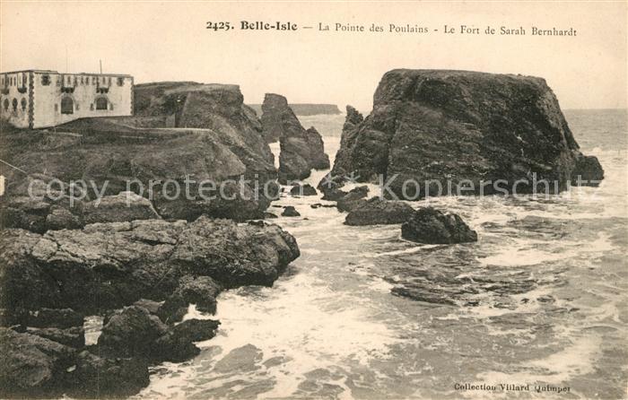 AK / Ansichtskarte Belle Isle en Terre Fort de Sarah Bernhardt Kat. Belle Isle en Terre