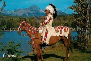 AK / Ansichtskarte Indianer Native American Pferd Plains Indians Canada  Kat. Regionales