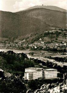 AK / Ansichtskarte Rotenburg Fulda Krankenhaus mit Blick auf Alheimer Fliegeraufnahme Kat. Rotenburg a.d. Fulda